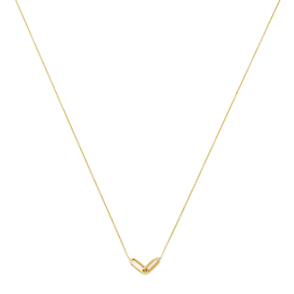 LIZZIE MANDLER Linked Yellow-Gold Necklace