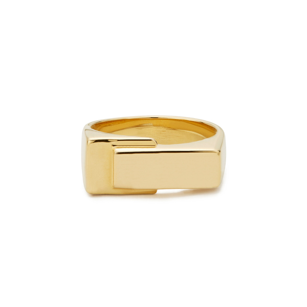 LIZZIE MANDLER Overlap Pinky Yellow-Gold Ring
