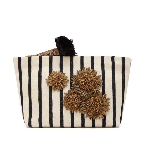 Sanayi 313 Clytie Striped Pouch Bag