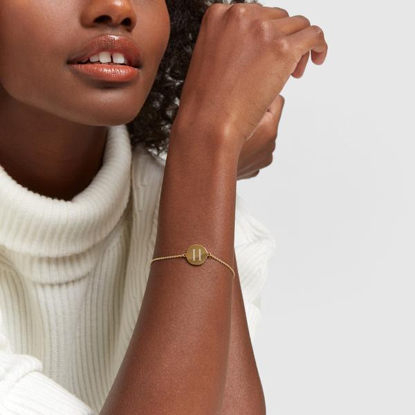 SARAH CHLOE Cara Initial Bracelet