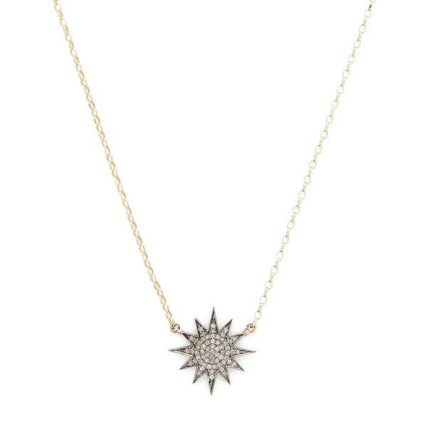 Kirstie Le Marque Pavé Diamond Starburst Pendant Necklace