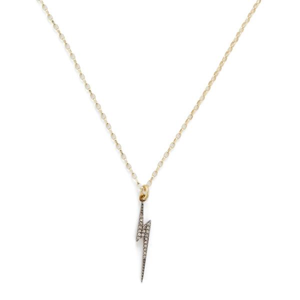 Kirstie Le Marque Pavé Diamond Lightning Bolt Pendant Necklace