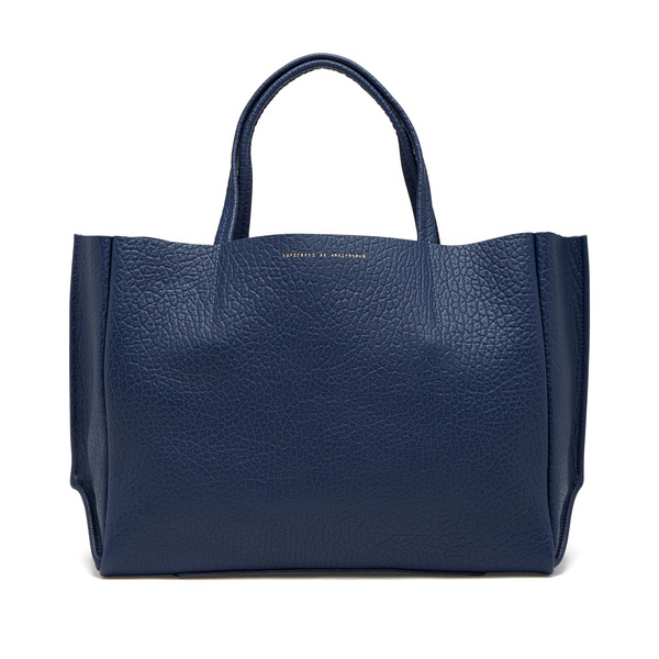 Ampersand As Apostrophe Sideways Leather Tote
