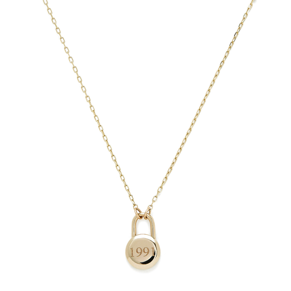 Sophie Ratner Love Lock Yellow-Gold Necklace