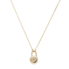 Love Lock Yellow-Gold Necklace