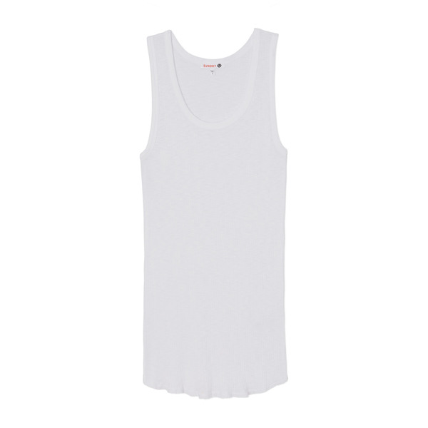 Sundry Fitted Ribbed Tank Top