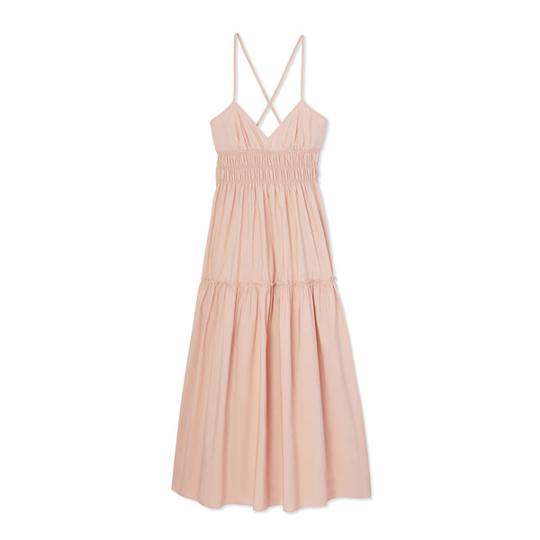Three Graces Emma Poplin Tiered Dress