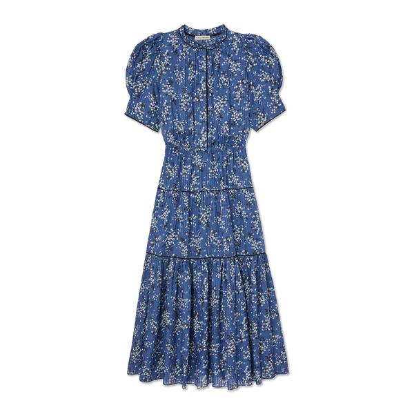 Ulla Johnson Corrine Printed Puff-Sleeve Dress