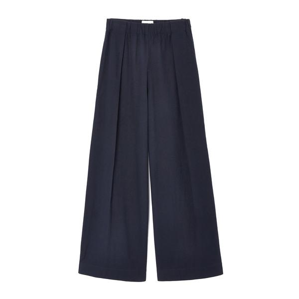 Fabiana Pigna High-Waisted Pleated Cotton Trousers
