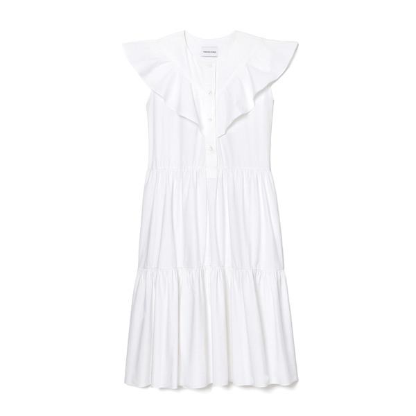 Fabiana Pigna Olga Tiered Cotton Dress