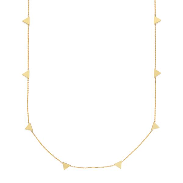 Jennifer Meyer Triangle By The Inch Necklace
