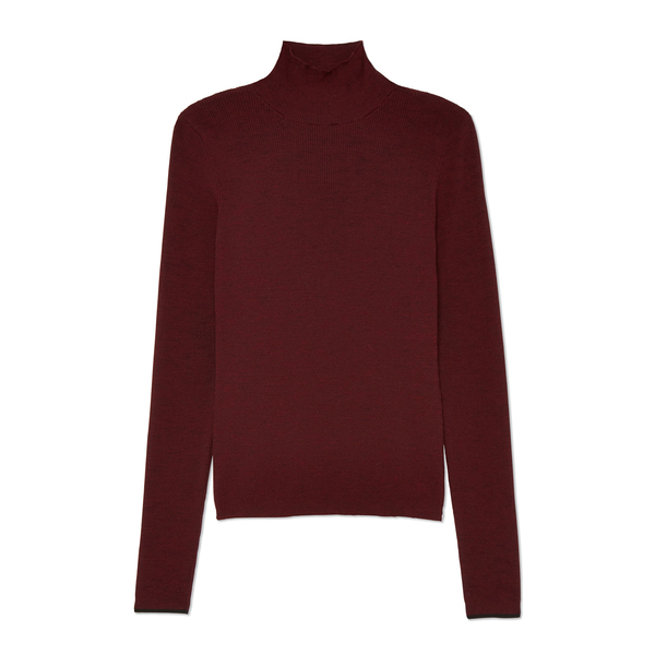 Ernest Leoty Margaux Ribbed Turtleneck Top