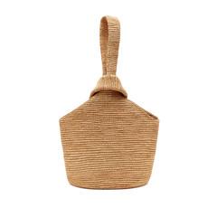 Pull-Through Straw Tote Bag