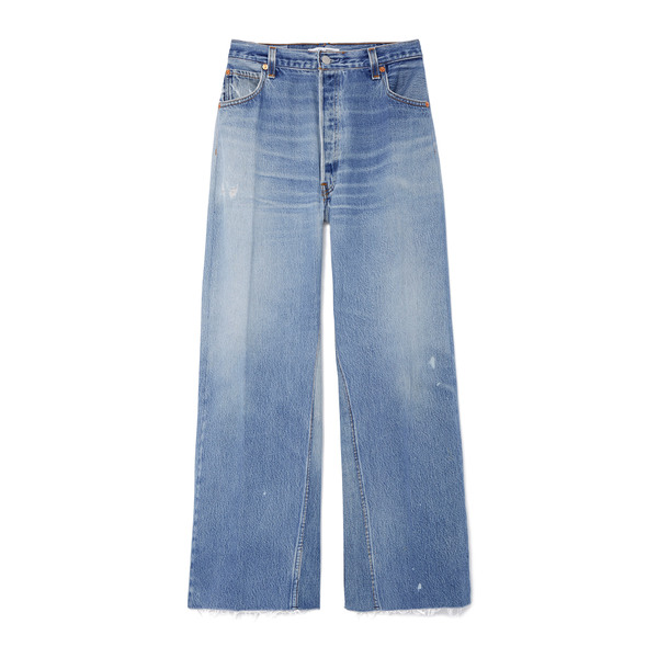 RE/DONE High-Rise Wide-Leg Cropped Jeans