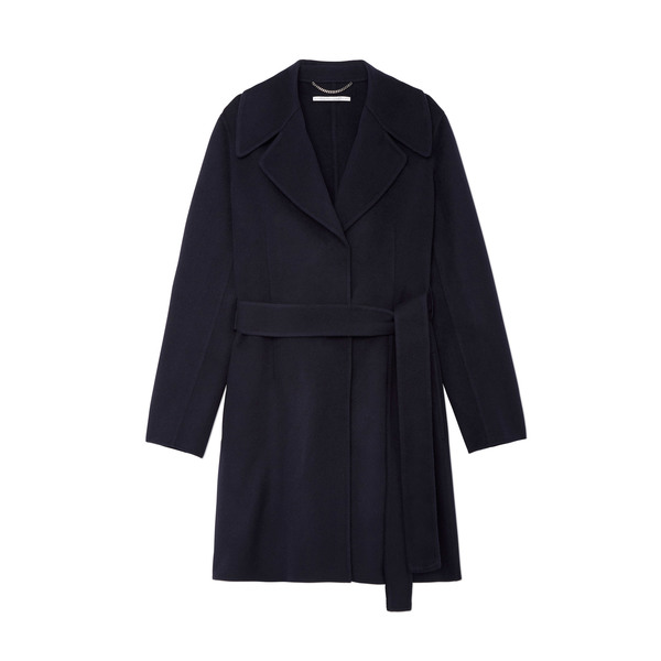 Stella McCartney Navy Wrap Coat
