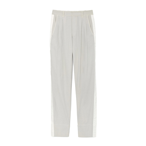 Bassike Washed Canvas Pleated Pants