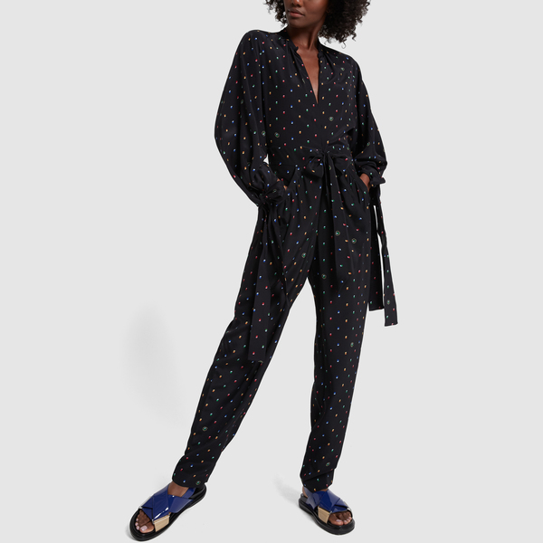 Stella McCartney Polka-Dot Silk Jumpsuit