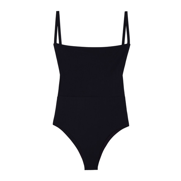 Anemos Solid Square-Neck One-Piece
