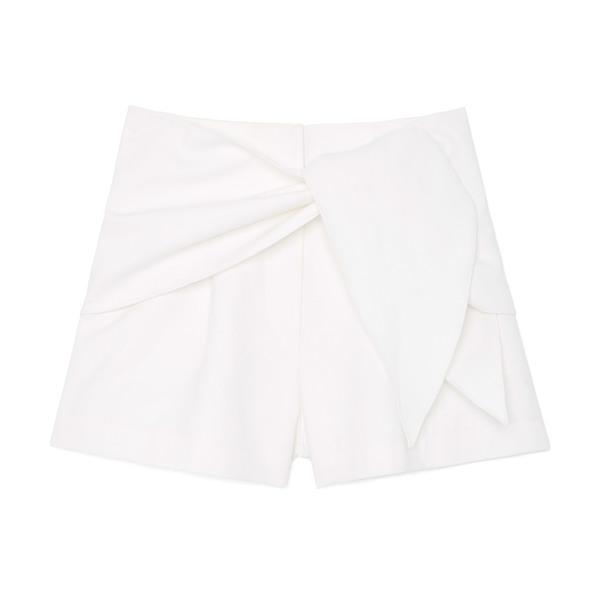 Tibi Compact Cotton Suit Shorts