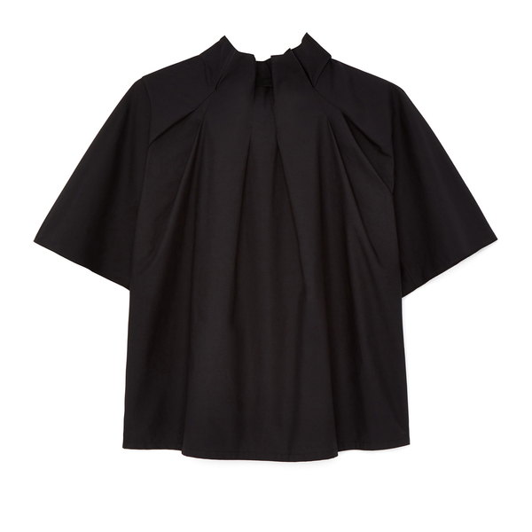 G. Label Ebony Pleat-Neck Top