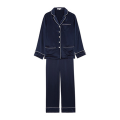 Coco Silk Long-Sleeve Pajama Set
