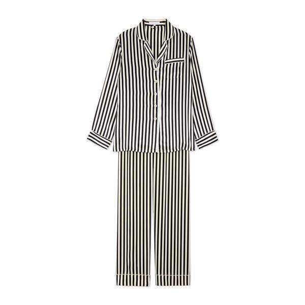 Olivia von Halle Lila Silk Long-Sleeve Pajama Set