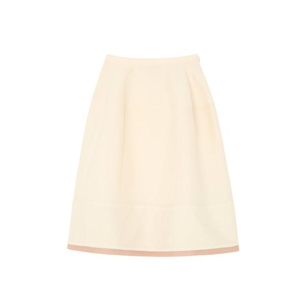 Marni White A-Line Skirt