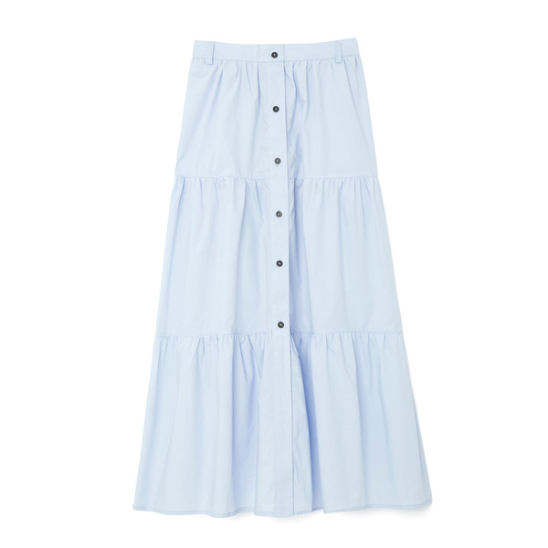 Solid & Striped Button-Down Skirt