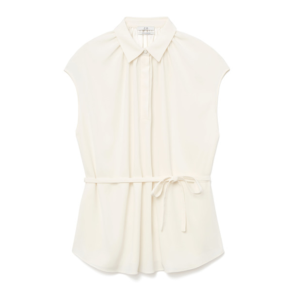 Co Silk Crepe Ivory Shirt