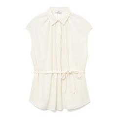 Silk Crepe Ivory Shirt