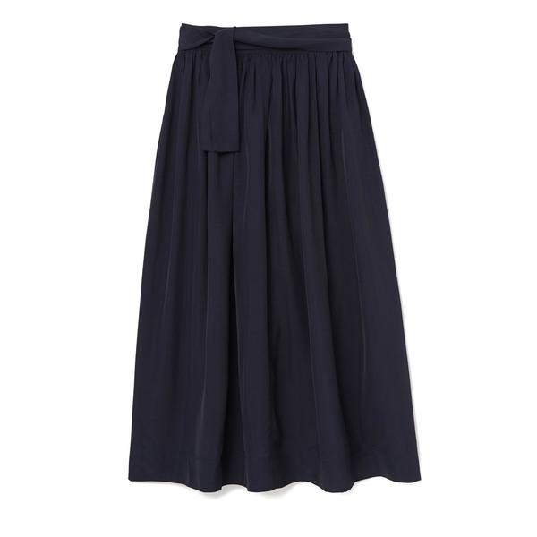 Co Broadcloth Navy Skirt