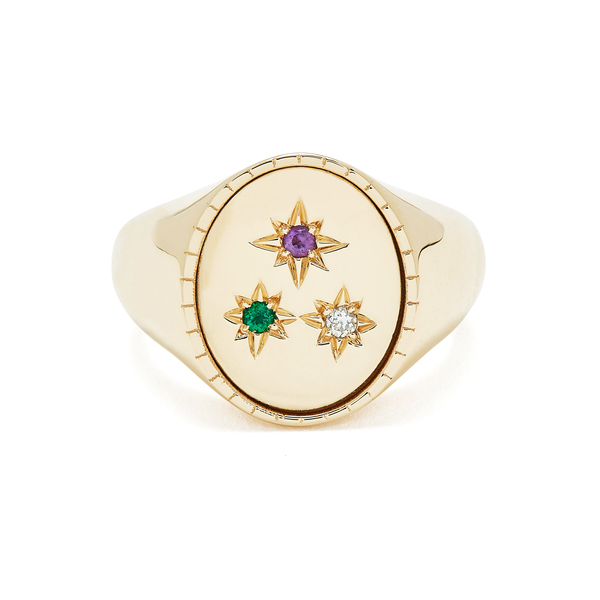Bondeye Jewelry Ingrid Yellow-Gold Signet Ring