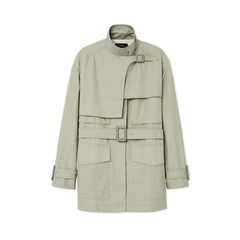 Warrick Short-Feather Trench Coat