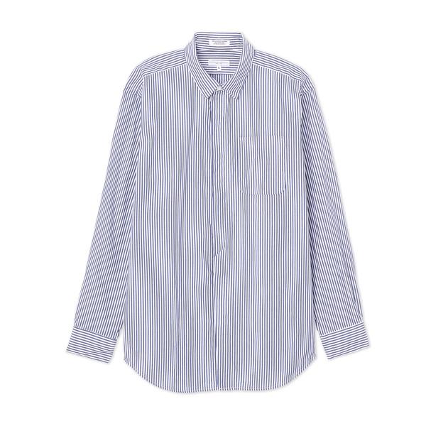 Nepenthes Short Collar Pinstripe Shirt