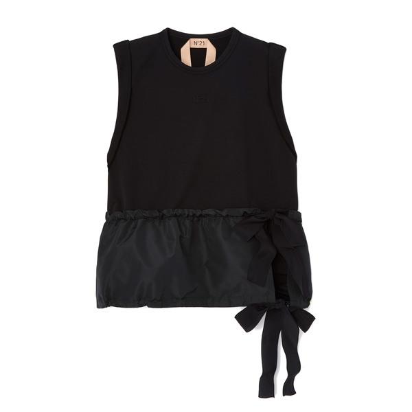 No. 21 Black Peplum Sweatshirt