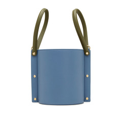 Cubo Leather Bucket Bag