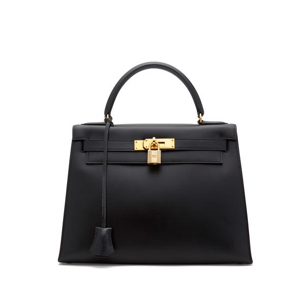 What Goes Around Comes Around Hermès Vintage Black Box Kelly, 28cm