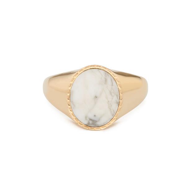 Bondeye Jewelry Markle 14K Yellow-Gold Howlite Ring