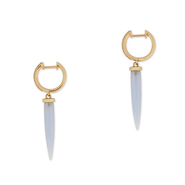Bondeye Jewelry Aphrodite 14K Yellow-Gold Chalcedony Earrings