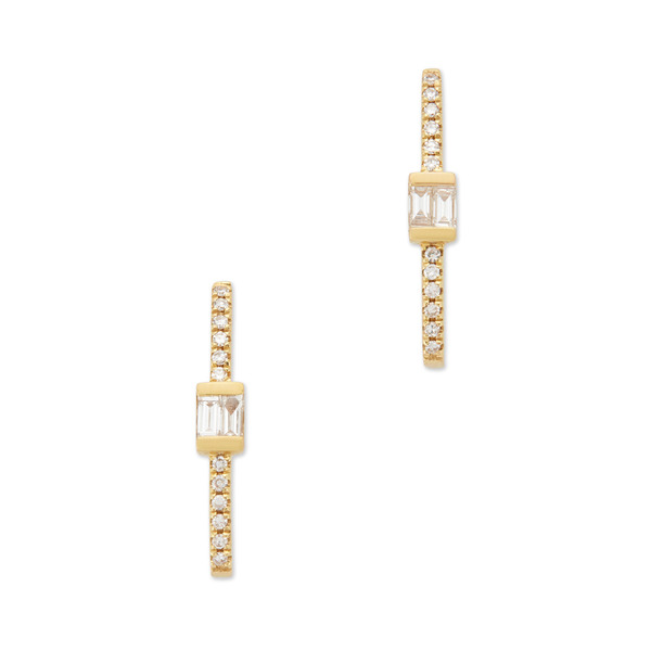 Shay Jewelry Baguette Bar Hook Studs