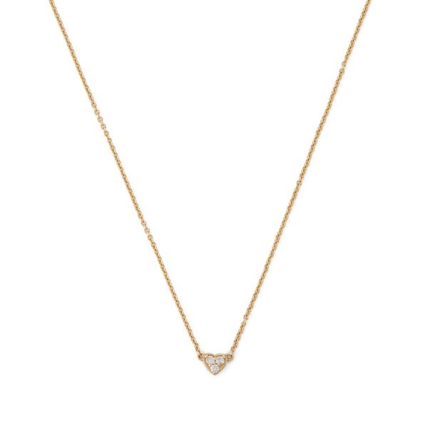 Shay Jewelry Baby Tri-Diamond Heart Necklace