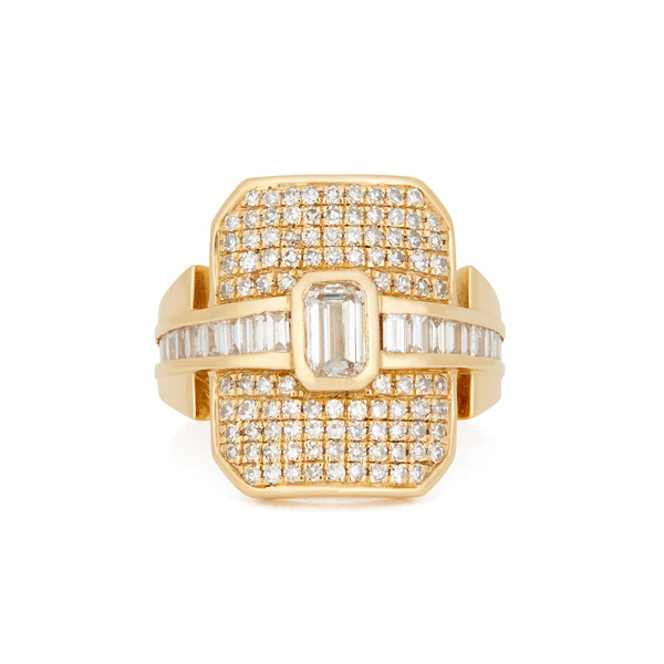SHAY JEWELRY Mixed Diamond Buckle Ring