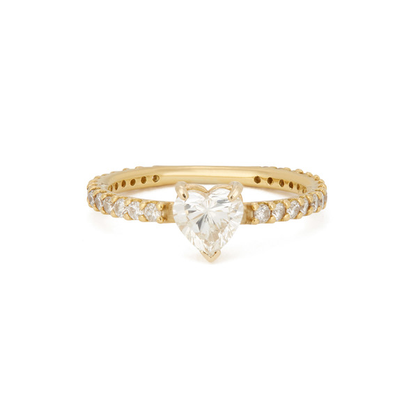 SHAY JEWELRY Solitaire Pinky Heart Ring