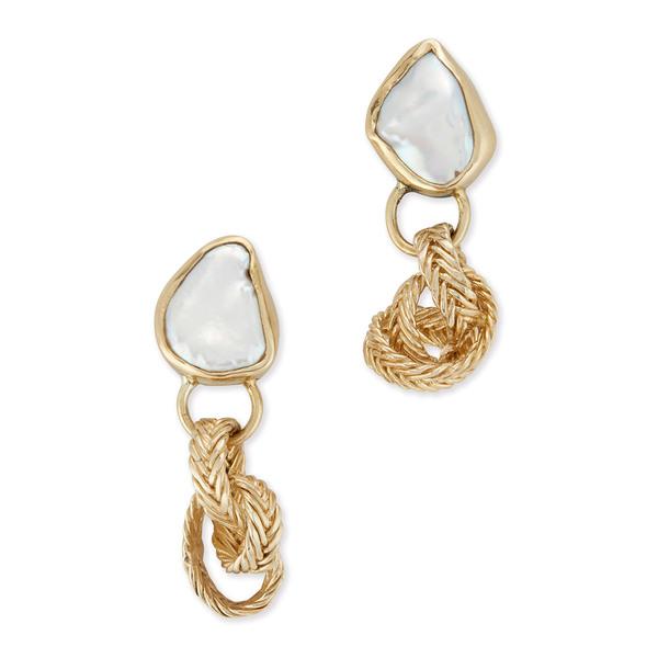 STVDIO Isabella Drops IN Keshi Pearl Earrings
