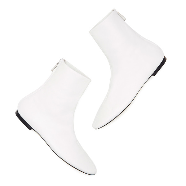 Victoria Beckham Dance White Leather Boots