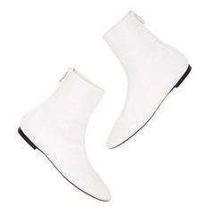 Dance White Leather Boots