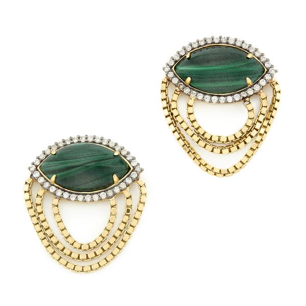 Sorellina Axl Marquise Fringe Earrings