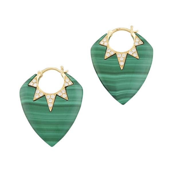 Sorellina Stone & Diamond Pave Guitar Pick Earrings