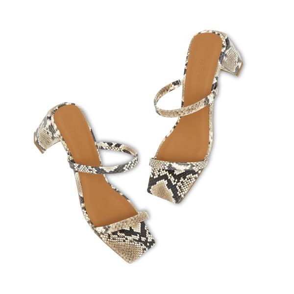 BY FAR Shoes Tanya Snake Print Heels