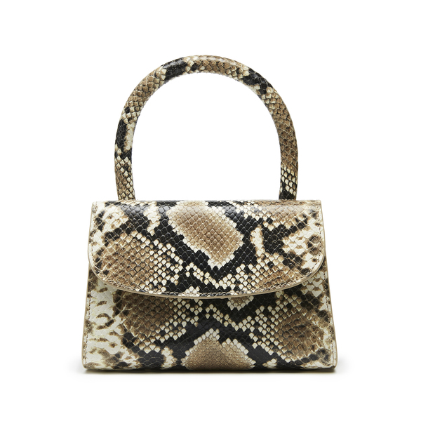 BY FAR Shoes Mini Snake Print Leather Handbag